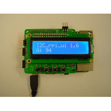 Raspberry Pi Compact User Interface with 16 x 2 LCD